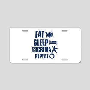 Eat Sleep Escrima Aluminum License Plate