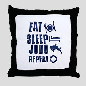 Eat Sleep Judo Throw Pillow