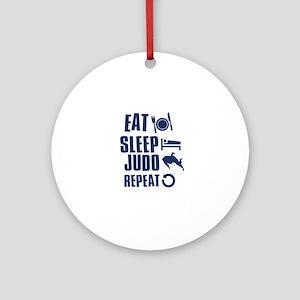 Eat Sleep Judo Ornament (Round)