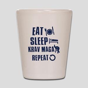 Eat Sleep Krav Maga Shot Glass
