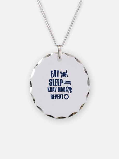 Eat Sleep Krav Maga Necklace