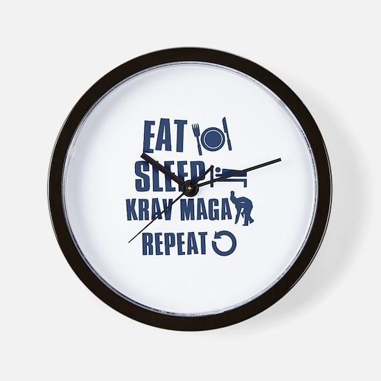 Eat Sleep Krav Maga Wall Clock