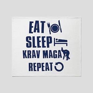 Eat Sleep Krav Maga Throw Blanket