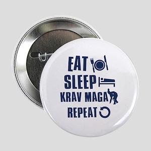 """Eat Sleep Krav Maga 2.25"""" Button"""