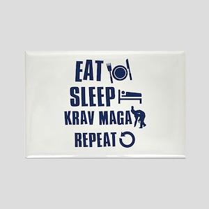 Eat Sleep Krav Maga Rectangle Magnet