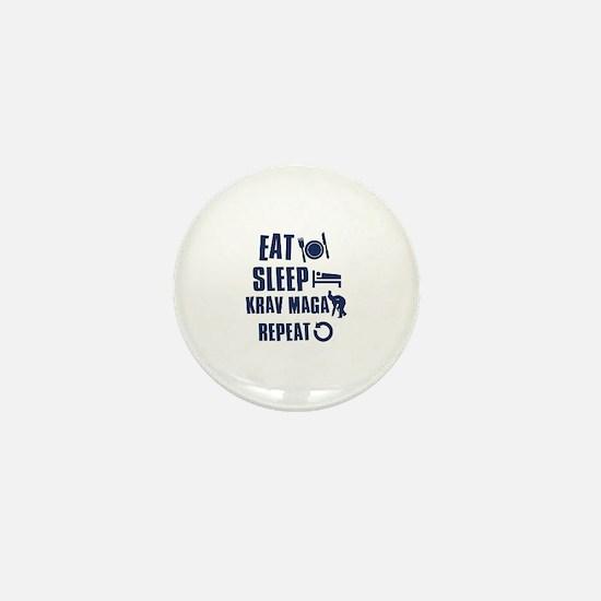 Eat Sleep Krav Maga Mini Button