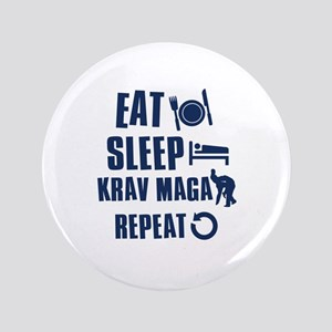 "Eat Sleep Krav Maga 3.5"" Button"