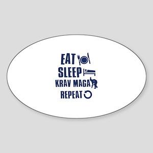 Eat Sleep Krav Maga Sticker (Oval)