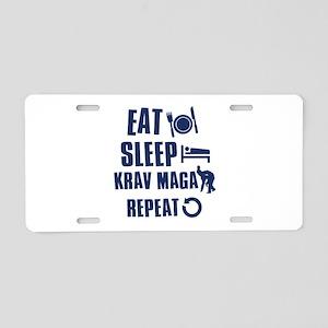Eat Sleep Krav Maga Aluminum License Plate
