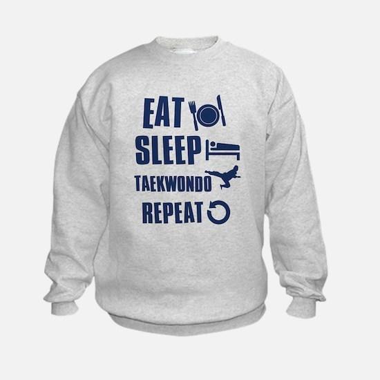 Eat Sleep Taekwondo Sweatshirt