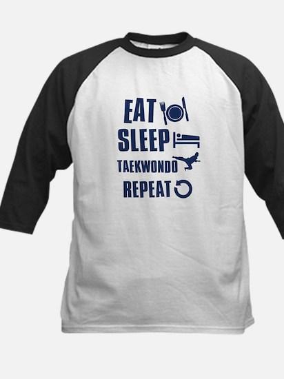 Eat Sleep Taekwondo Kids Baseball Jersey