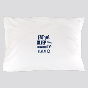 Eat Sleep Taekwondo Pillow Case