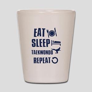 Eat Sleep Taekwondo Shot Glass