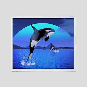 Orca Throw Blanket