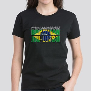 Eat Sleep Brazilian Jiu Jitsu Women's Dark T-Shirt