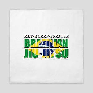 Eat Sleep Brazilian Jiu Jitsu Queen Duvet