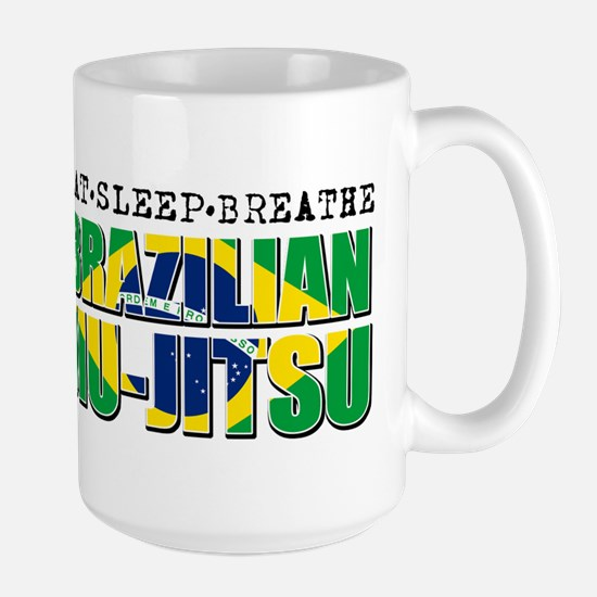 Eat Sleep Brazilian Jiu Jitsu Large Mug