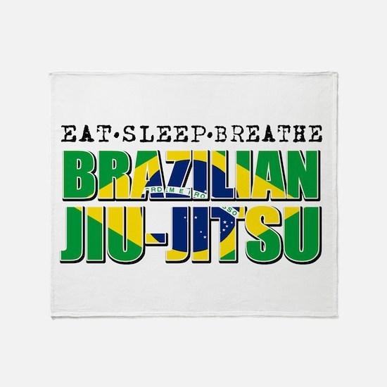 Eat Sleep Brazilian Jiu Jitsu Throw Blanket