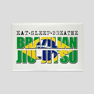 Eat Sleep Brazilian Jiu Jitsu Rectangle Magnet