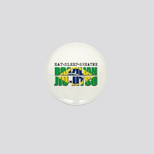 Eat Sleep Brazilian Jiu Jitsu Mini Button