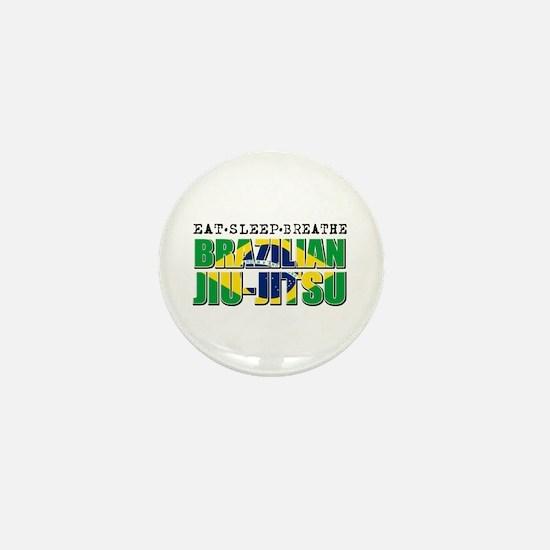 Eat Sleep Brazilian Jiu Jitsu Mini Button
