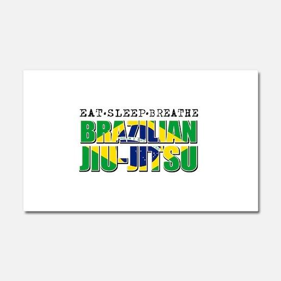 Eat Sleep Brazilian Jiu Jitsu Car Magnet 20 x 12