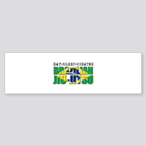 Eat Sleep Brazilian Jiu Jitsu Sticker (Bumper)