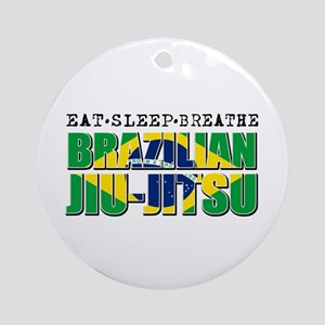 Eat Sleep Brazilian Jiu Jitsu Ornament (Round)