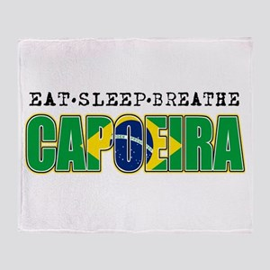Eat Sleep Capoeira Throw Blanket