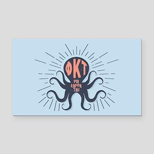 Phi Kappa Tau Octopus Rectangle Car Magnet