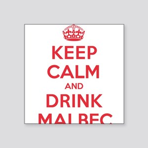"K C Drink Malbec Square Sticker 3"" x 3"""