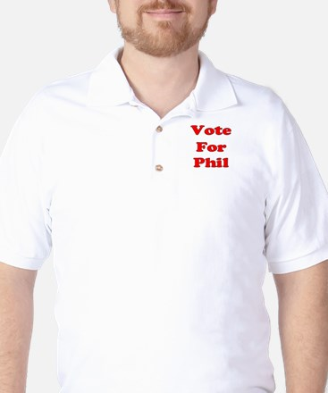 Vote for Phil (Red) Golf Shirt