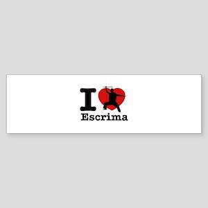 Escrima Heart Designs Sticker (Bumper)