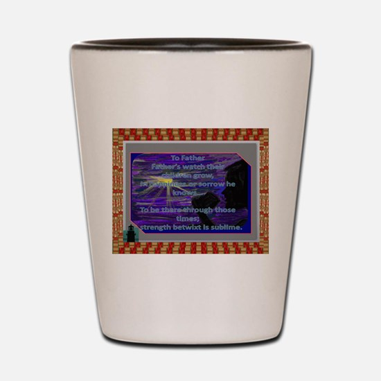To Father Collectible Shot Glass ~ Gift