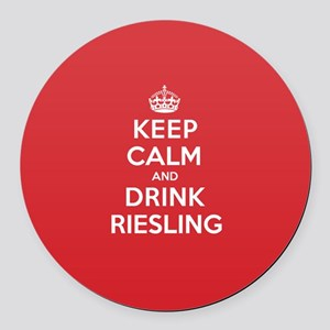 K C Drink Riesling Round Car Magnet