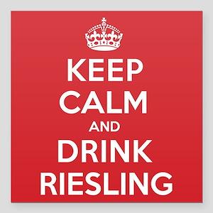 "K C Drink Riesling Square Car Magnet 3"" x 3"""