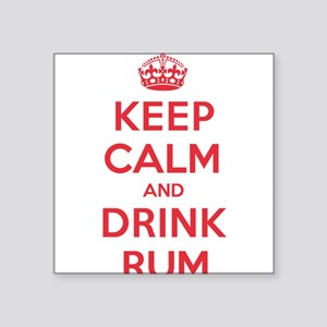"K C Drink Rum Square Sticker 3"" x 3"""