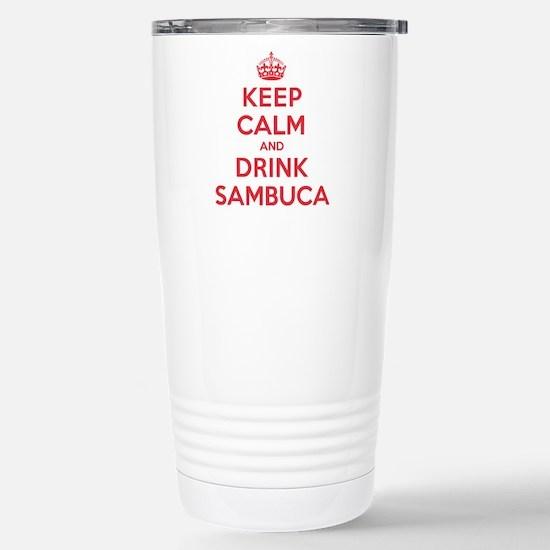 K C Drink Sambuca Stainless Steel Travel Mug