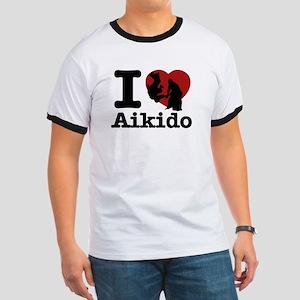 Aikido Heart Designs Ringer T