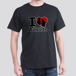 Aikido Heart Designs Dark T-Shirt