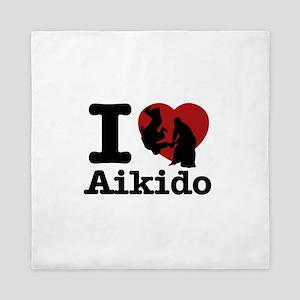 Aikido Heart Designs Queen Duvet
