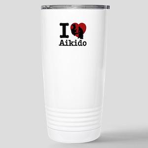 Aikido Heart Designs Stainless Steel Travel Mug
