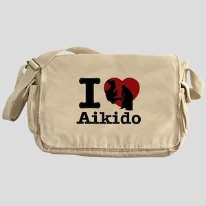 Aikido Heart Designs Messenger Bag