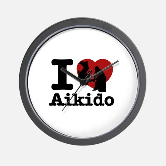 Aikido Heart Designs Wall Clock
