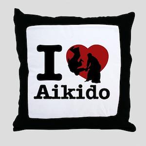Aikido Heart Designs Throw Pillow