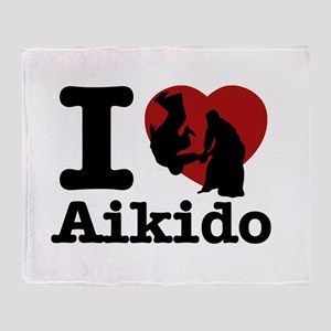 Aikido Heart Designs Throw Blanket