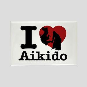 Aikido Heart Designs Rectangle Magnet
