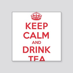 "K C Drink Tea Square Sticker 3"" x 3"""