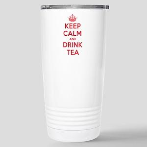 K C Drink Tea Stainless Steel Travel Mug