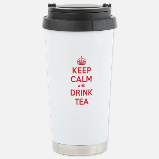 K C Drink Tea Stainless Steel Travel Mug